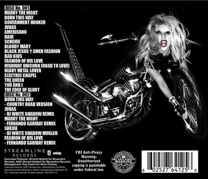 Tracklist Joanne Word Tour