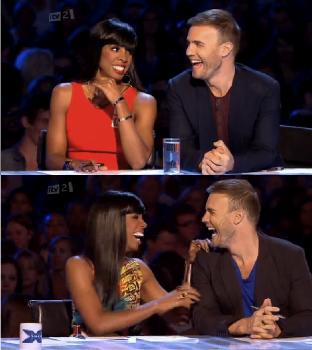 gary barlow and kelly rowland flirting The x factor 2011: read on for the goss on the first episode & what tulisa, gary barlow & kelly rowland are like as judges.